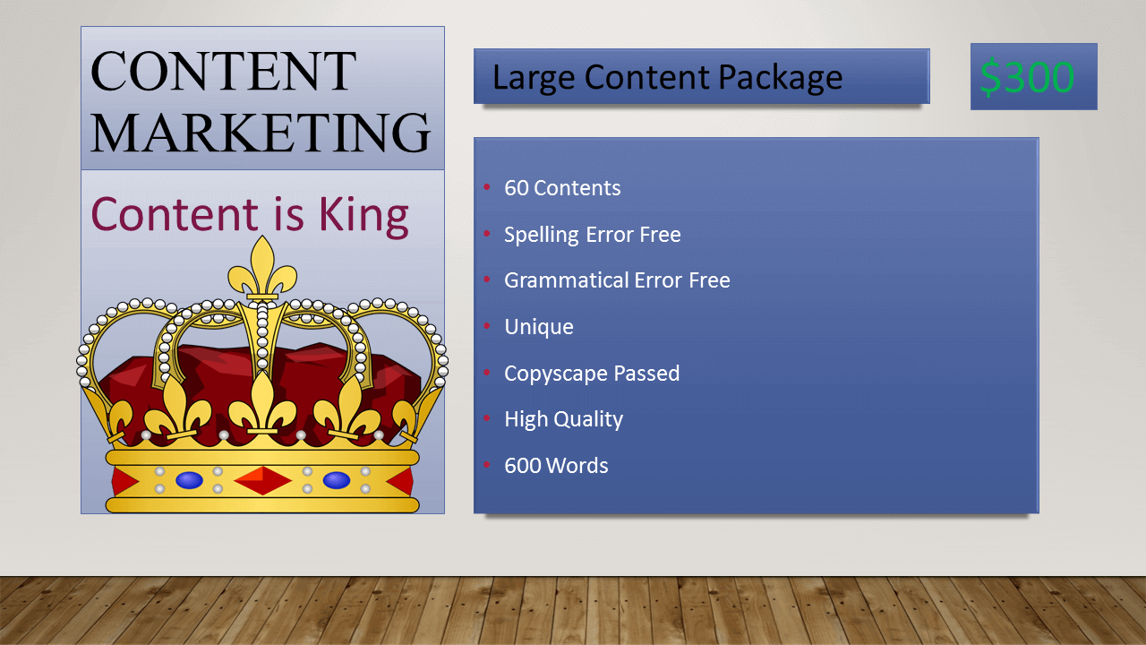 Large Content Marketing Package in Bangladesh