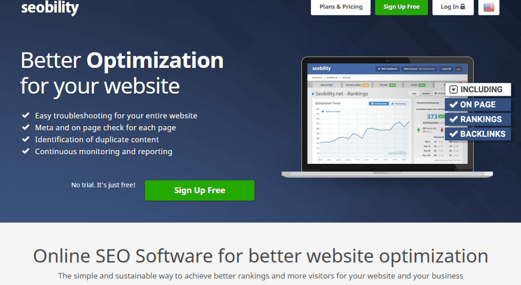 Seobility - tool will show you whether your website is good or bad