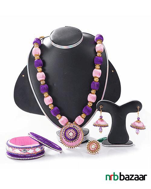 Multi-Color-Silk-Thread-Jewelry-Set