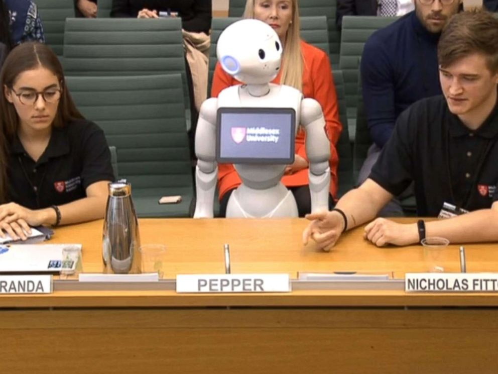 Robot Pepper Appears before UK Parliament, Hints Fourth Industrial Revolution